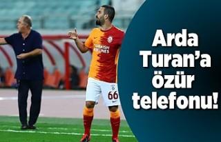 Arda Turan'a özür telefonu!