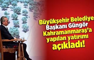 Büyükşehir Belediye Başkanı Güngör Kahramanmaraş'a...