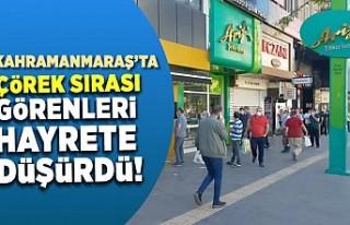 Kahramanmaraş'ta ramazan bayramı öncesi kuyruk...