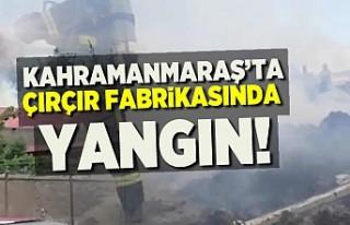 Çırçır fabrikasında yangın!