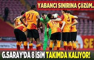 Galatasaray'dan yabancı sınırına çözüm!...