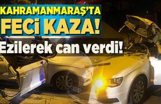 Kahramanmaraş'ta feci kaza devrilen direğe...
