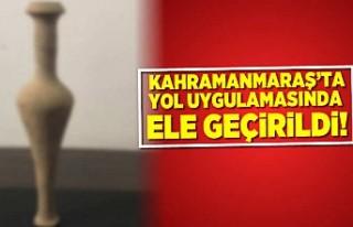 Kahramanmaraş'ta yol uygulamasında ele geçirildi!