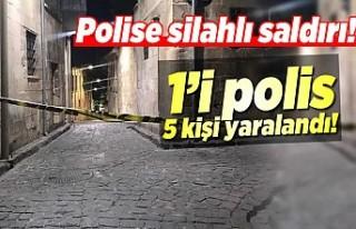 Polis'e silahlı saldırı! 5 kişi yaralandı!
