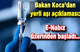 Sağlık Bakanı Fahrettin Koca'dan yerli aşı...