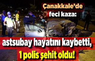 Son dakika! Çanakkale'de feci kaza: 1 astsubay...