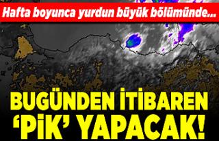 Antalya'da temmuz sıcaklığı, ortalamanın...