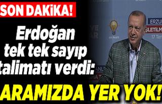 Cumhurbaşkanı Erdoğan'dan Erzurum'da...