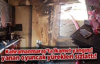 Kahramanmaraş'ta yanan ev kullanılamaz hale...