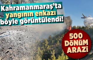Kahramanmaraş'ta yangının enkazı böyle görüntülendi!