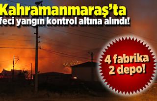 Kahramanmaraş'ta yangının zararı ortaya çıktı!