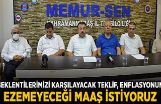 BEKLENTİLERİMİZİ KARŞILAYACAK TEKLİF, ENFLASYONUN...