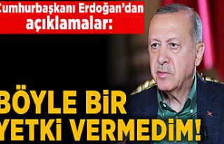 Cumhurbaşkanı Erdoğan'dan canlı yayında...