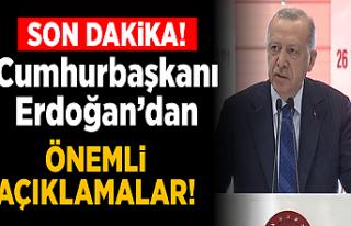 Cumhurbaşkanı Erdoğan: İkinci çeyreği de büyümeyle...