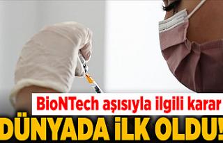 Dünyada ilk! Pfizer/BioNTech aşısına tam onay