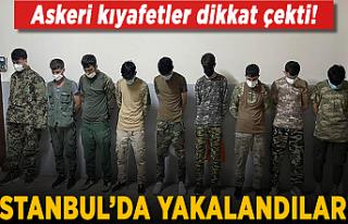 İstanbul'da asker kıyafetiyle dolaşan Afgan...