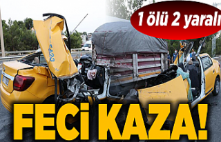 İzmir'de taksinin TIR'a çarpması sonucu...