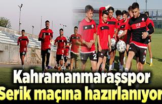 Kahramanmaraşspor, Serik maçına hazırlanıyor