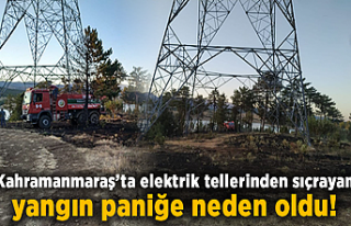 Kahramanmaraş'ta elektrik tellerinden sıçrayan...