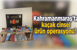 Kahramanmaraş'ta kaçak cinsel ürün operasyonu!