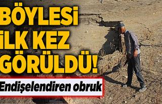 Konya'da obruk içerisinde obruk oluştu