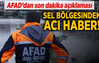 Sel bölgesinden acı haber! AFAD açıkladı!