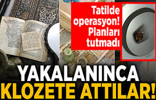 Sikkeler klozetten çıktı! 'Anadolu' operasyonundan...
