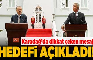 Son dakika... Cumhurbaşkanı Erdoğan'dan Karadağ'da...