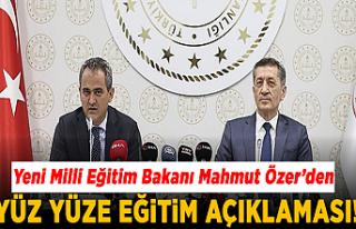 Yeni Milli Eğitim Bakanı Mahmut Özer'den yüz...