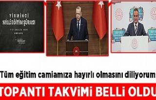 Başkan Erdoğan duyurdu: Milli Eğitim Şurası 1-3...