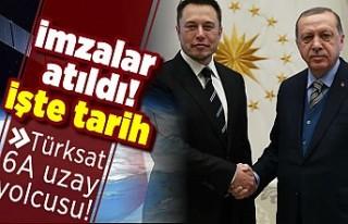 İmzalar atıldı! İşte tarih! Türksat 6A uzay...