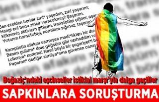 İstiklal Marşı'yla dalga geçen LGBT'liler...
