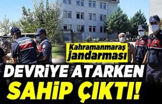Kahramanmaraş Jandarması devriye atarken sahip çıktı!