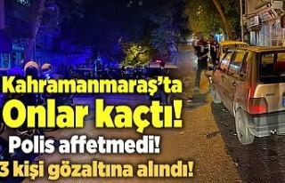 Kahramanmaraş'ta polis kovalamaca sonucu yakaladı!...