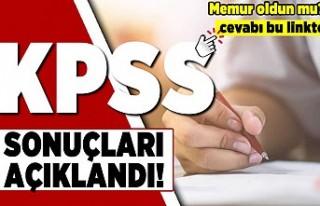 KPSS sonuçları açıklandı! Memur oldun mu?