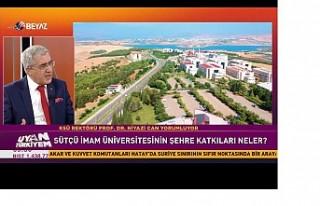 Üniversitemiz Rektörü Prof. Dr. Niyazi Can, Beyaz...