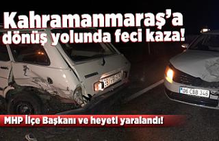 Kahramanmaraş'a dönüş yolunda feci kaza!...
