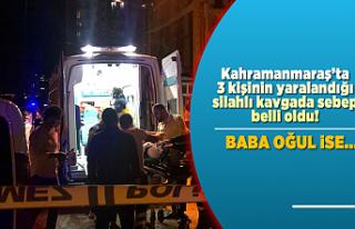 Kahramanmaraş'ta silahlı kavgada 3 kişi yaralanmıştı...