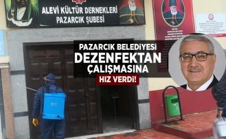 Pazarcık Belediyesi dezenfektan çalışmasına hız verdi!