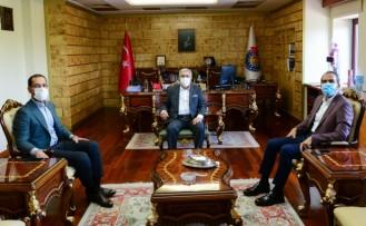 Kahramanmaraş Milletvekilleri Ahmet Özdemir ile M. Cihat Sezal, Rektörümüz Prof. Dr. Niyazi Can'ı Ziyaret Etti