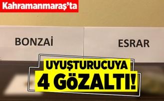 Kahramanmaraş'ta uyuşturucuya 4 gözaltı!