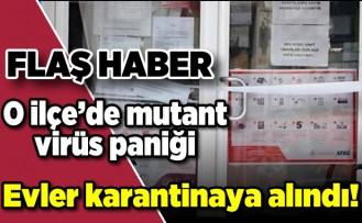 Flaş haber... O ilçede mutant virüs paniği evler karantinaya alındı!