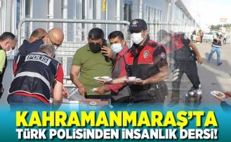Kahramanmaraş'ta türk polisinden insanlık dersi!