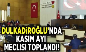 Dulkadiroğlu'nda Kasım ayı meclisi toplandı!