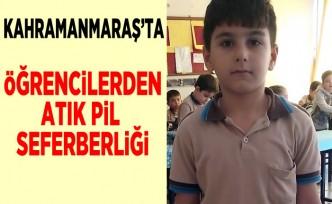 Kahramanmaraş'ta öğrencilerden atık pil seferberliği!