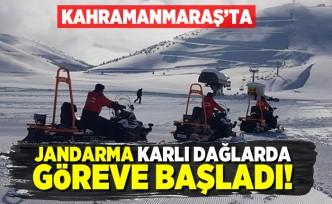 Kahramanmaraş'ta karlı dağlarda jandarma göreve başladı!