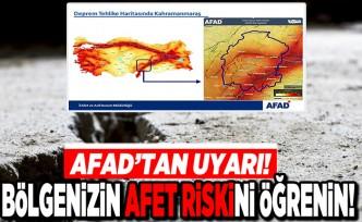 AFAD'tan uyarı! Bölgenizin Afet riskini öğrenin!
