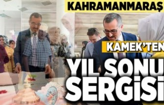 Kahramanmaraş'ta KAMEK'ten yıl sonu sergisi!