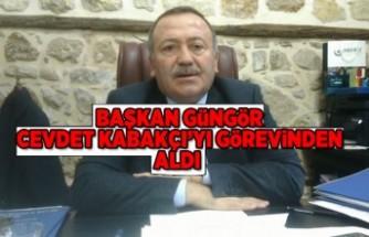 Cevdet Kabakçı görevinden alındı