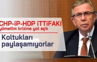 CHP-iP-HDP iTTiFAKI yömetim krizine yol açtı Koltukları paylaşamıyorlar!